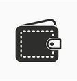 wallet money icon simple pictograph vector image