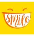 Yellow smile poster vector image vector image