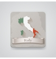 Icon of Italy map with flag vector image