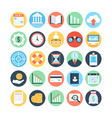 Market and Economics Colored Icons 2 vector image