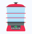 steamer food icon cook cooking kitchen vector image