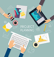 Business teamwork Flat banner of business strategy vector image
