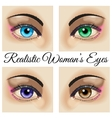 Realistic woman eyes vector image