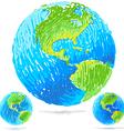 Sketchy blue earth vector image