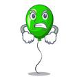 angry green ballon with cartoon ribbons beautiful vector image