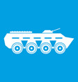 army battle tank icon white vector image vector image