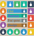 Bag icon sign Set of twenty colored flat round vector image