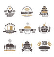 bakery labels cooking symbols kitchen vector image vector image