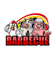 barbecue and sauces logo vector image