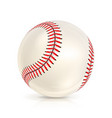 baseball leather ball close-up isolated on white vector image