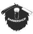 beard and razor symbol vector image