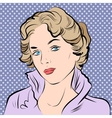 Beautiful girl portrait in retro style vector image