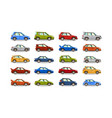 big set of cars collection vehicle sedan vector image vector image