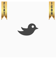 bird flat icon vector image vector image