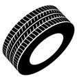 black tyre symbol vector image vector image