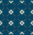 blue turkish ornamental ceramic tile vector image