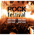 blurred background with rock stage and crowd rock vector image vector image