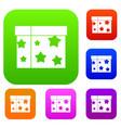 box magician set collection vector image vector image