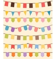 Bunting and garland set in various colors vector image
