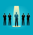 businessman being spotlighted vector image