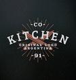 Butcher Knifes Vintage Retro Design Elements for vector image vector image