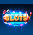casino slots jackpot 777 signboard vector image vector image