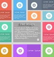 CD or DVD icon sign Set of multicolored buttons vector image