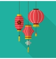 Chinese new year clean flat design with lanterns