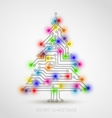 christmas tree from digital electronic circuit vector image vector image
