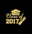 class of 2017 card vector image vector image