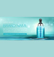 cosmetics cream bottle with pipette mock up banner vector image vector image