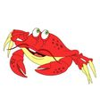 cute cartoon crab vector image vector image