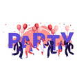 dance party motivation typography banner vector image