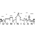dominican outline icon can be used for web logo vector image
