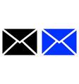 envelope flat icon vector image vector image