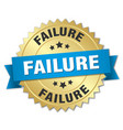 failure round isolated gold badge vector image vector image