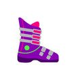 flat style skiing snowboarding boot side view vector image vector image