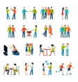 Friends Icons Flat Set vector image vector image