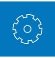 Gear line icon vector image vector image