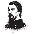 general winfield s hancock vintage vector image vector image