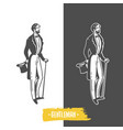 gentlemans black and white objects vector image vector image