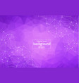 Geometric purple polygonal background molecule