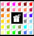 gift sign with tag felt-pen 33 colorful vector image vector image