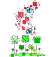 good luck doodle vector image vector image