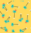 hand drawing palms seamless vector image