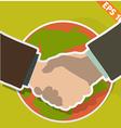 Hand shaking - - EPS10 vector image vector image