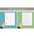 Hands with Documents vector image