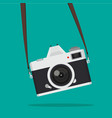 hanging retro camera vector image vector image