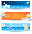 holidays on the beach set of banners vector image