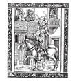 horseback man vintage vector image vector image